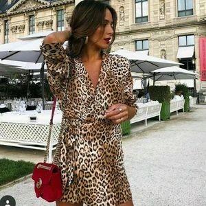 Last one Zara animal print jumpsuit romper